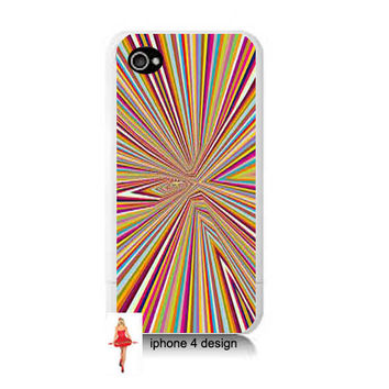 Rainbow Burst 4 case, Iphone case, Iphone 4s case, Iphone 4 cover, i phone case, i phone 4s case