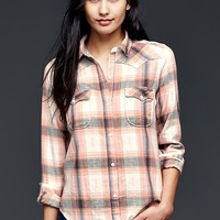 Gap Women Flannel Slim Western Shirt