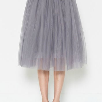 Heather Grey Tulle Skirt
