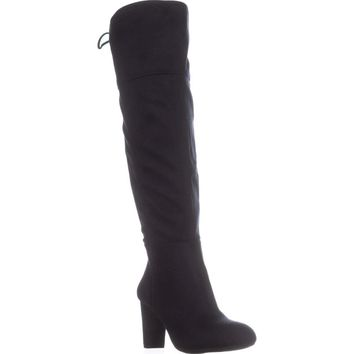 I35 Hadli Wide Calf Over The Knee Boots, Midnight Blue, 6 US