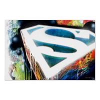 Superman Neon Graffiti Poster from Zazzle.com