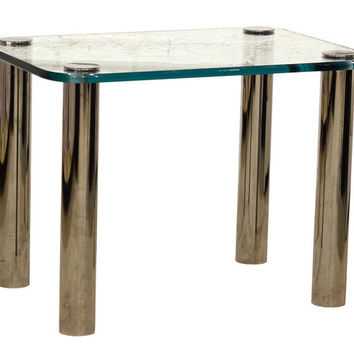Glass Topped Pace End Table