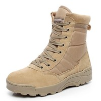 Plus Size Desert Tactical Military Boots SWAT Combat Army Boots Men Shoes Work Outd