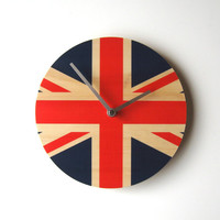 Objectify Union Jack National Flag Clock
