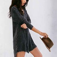 Staring At Stars Raw-Edged V-Neck Tunic Top-