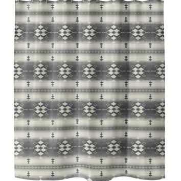 GUADALUPE GREY Shower Curtain By Terri Ellis