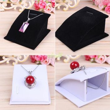 Top Quality Mini Black Velvet Necklace And Pendant Jewellery Display Stand Tools Holder for jewelry