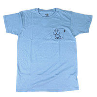 Quiet Life: Boob Dog Pocket Shirt - Heather Blue