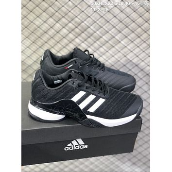 DCCK2 A642 Adidas Barricade Boost 2018 Buffer anti-skid tennis shoes Black