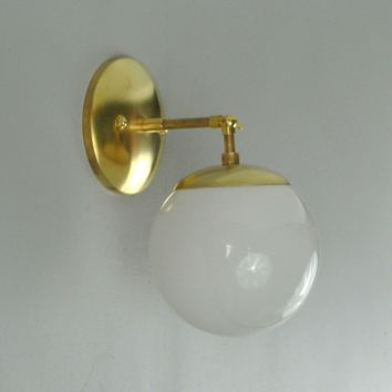 Mid Century Orb Single Wall Sconce