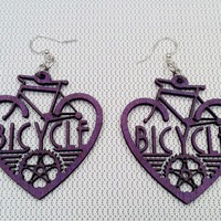 Bicycle Heart Earring~Exclusive Design