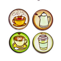 Café Magnet Set by Susie Ghahremani / boygirlparty.com - Coffee Magnets and Tea Magnets