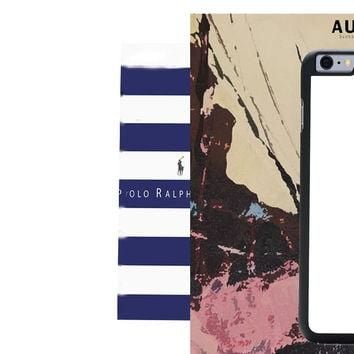Polo Ralph Lauren Blue White Stripes IPhone 6 Plus Case Auroid