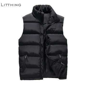 Litthing 2018 New Brand Men Sleeveless Jacket Winter Ultralight Duck Down Vest Jacket Slim Vest Mens Windproof Warm Waistcoat