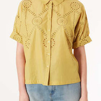 Embroidered Border Shirt - Railroad  - Clothing