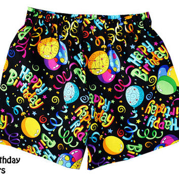 My Happy Birthday's Boxers, Boys Boxers, Boxers, Underwear, Shorts