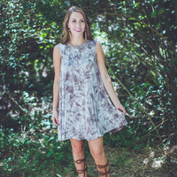 Down To Earth Dress in Stone