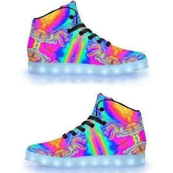 Drip 💧-  APP Controlled High Top LED Shoe