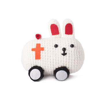 Multicolor Bunnies Handmade Amigurumi Stuffed Toy Knit Crochet Doll VAC