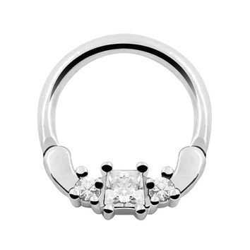 Crystal nose stud silver nose ring 16g septum piercing jewelry septum clicker real nose ring hoop body piercing jewelry septo
