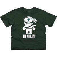 Tulane Green Wave Youth Lil' Ninja T-Shirt - Green - http://www.shareasale.com/m-pr.cfm?merchantID=7124&userID=1042934&productID=528465303 / Tulane Green Wave