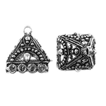 FSF-209 Silver Overlay Chandelier Earring Finding Triangle Shape