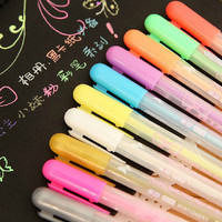 Set of 12 Colorful Assorted Gel Pen, candy color Marker pen, Highlighter pen for sticky notes, paper working, scrapbook, wedding