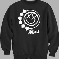 Blink 182 logo white Sweater for Mens Sweater and Womens Sweater *