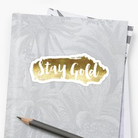 'Stay Gold' Sticker by miamulin57