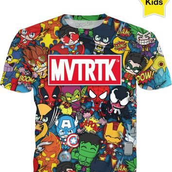 MVTRTK SUPER HEROES Kids T-Shirt
