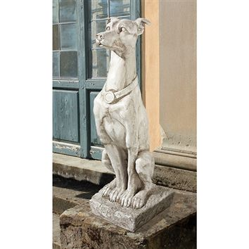 SheilaShrubs.com: Art Deco Whippet Greyhound Sentinel Dog Statue AL32920 by Design Toscano: Garden Sculptures & Statues