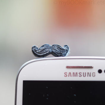 Mustache phone accessory Movember plug for earphone by MyBookmark