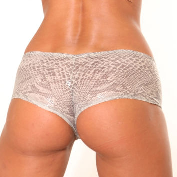 Opaque Snake Skin BASIC BOOTY SHORT-Stripper Clothing