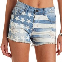 Faded Americana Denim Short: Charlotte Russe