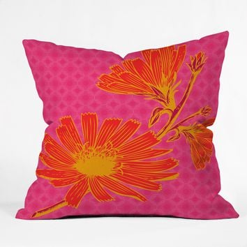 Caroline Okun Bold Chickory Throw Pillow
