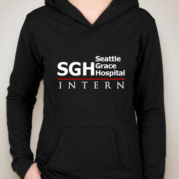 "Grey's Anatomy ""SGH Seattle Grace Hospital Intern"" Unisex Adult Hoodie Sweatshirt"