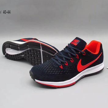 NIKE Women Men Running Sport Casual Shoes Sneakers Black-Red Hook G-A36H-MY