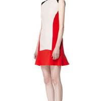 TRICOLOR DRESS - Dresses - Woman - ZARA United States
