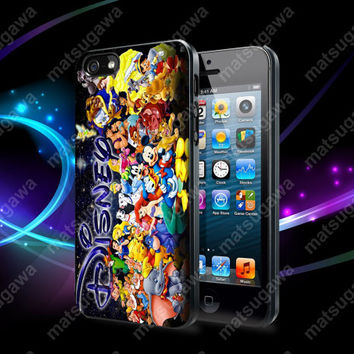Disney Character Collage Case For iPhone 5, 5S, 5C, 4, 4S and Samsung Galaxy S3, S4