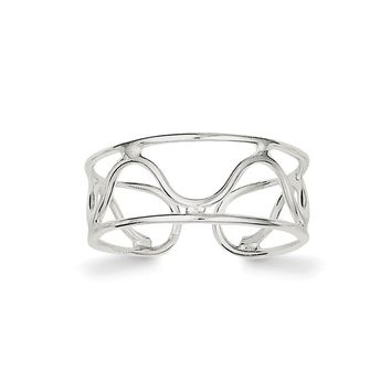 925 Sterling Silver Wave Toe Ring