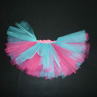 Shimmer Aqua & fuchsia tutu- fuchsia aqua newborn, bright colored tutu, baby girl tutu, princess tutu, toddler flower girl, dress up shimmer