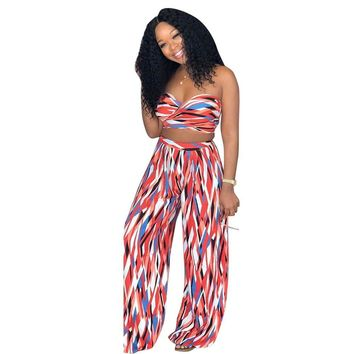 Two Piece Loose Print Body Feminino