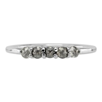 Starlight Grey Diamond Band