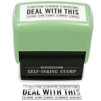 DEAL WITH THIS SELF-INKING STAMPER