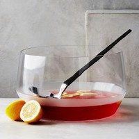 Morandi Punch Bowl & Ladle by Anthropologie in Clear Size: Bowl & Ladle Bowls