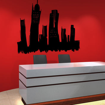Vinyl Wall Decal Sticker City Sketch #OS_MB1230
