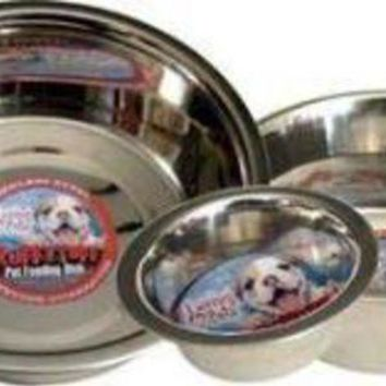 LMFYN5 Loving Pets Striped Stainless Steel Dish 2 Qt.