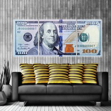 $100 Bill Money Art New Money Canvas Print