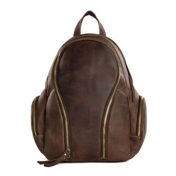 ROCK Leather Travel Backpack