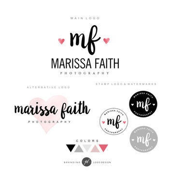 Photography logo package, Premade logo design, Watermark business logo signature logo branding package Stamp Logo Photography Logo design 04